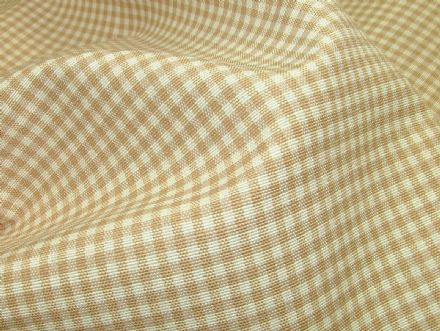 Prestigious Textiles Beige Gingham Curtain / Soft Furnishing Fabric